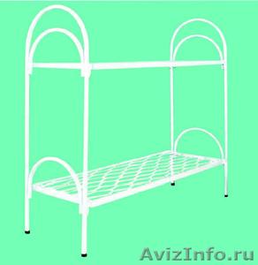Двухъярусные металлические кровати для бытовок, кровати для общежитий, оптом - Изображение #1, Объявление #1479366