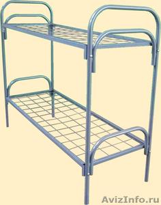 Двухъярусные металлические кровати для бытовок, кровати для общежитий, оптом - Изображение #4, Объявление #1479366