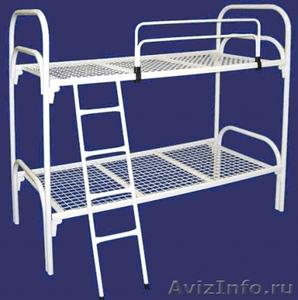 Двухъярусные металлические кровати для бытовок, кровати для общежитий, оптом - Изображение #5, Объявление #1479366