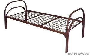 Двухъярусные металлические кровати для бытовок, кровати для общежитий, оптом - Изображение #3, Объявление #1479366