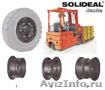 Диски,  шины  для вилочных погрузчиков и спецтехники