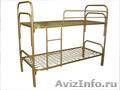 Двухъярусные металлические кровати для бытовок, кровати для общежитий, оптом - Изображение #2, Объявление #1479366